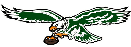 467e5f517 Philadelphia Eagles Primary Logo (1987) - Green eagle with football with  black and white detail