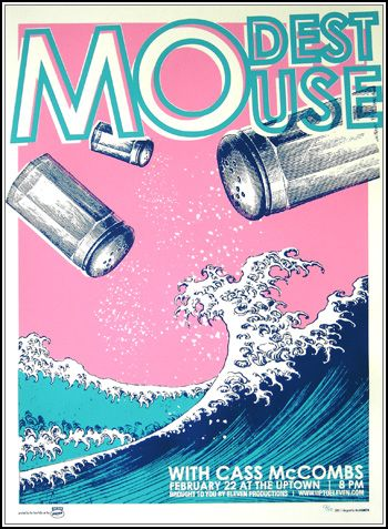 Modest Mouse, I would also like this print (reminds me of Hokusai's Great Wave!!!)