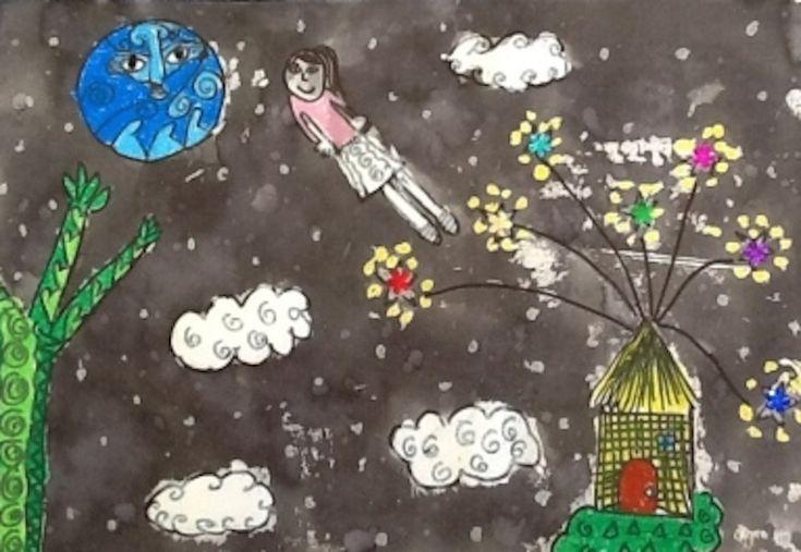 Children's Matariki art - retelling and illustrating the legend of Matariki