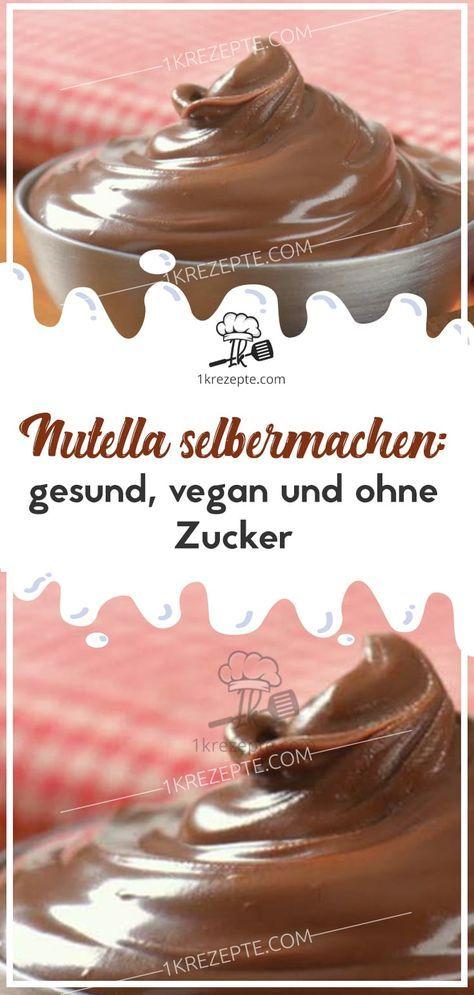 Machen Sie sich Nutella: gesund, vegan und ohne Zucker   – selber machen