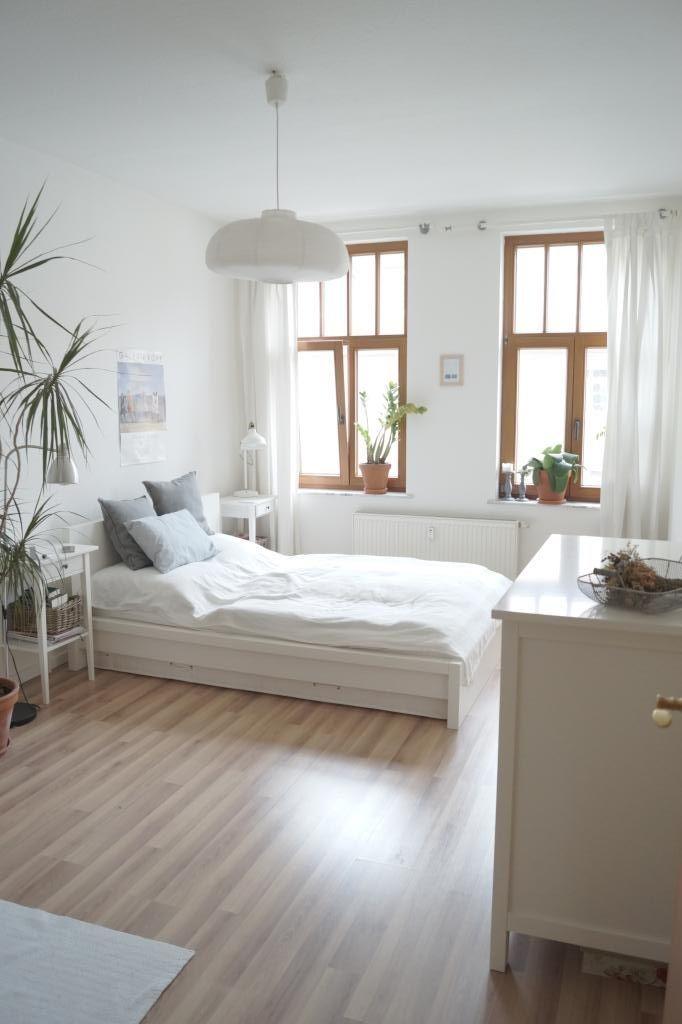 Wunderschönes Und Helles Schlafzimmer In Einer 2 Zimmer Wohnung #Leipzig