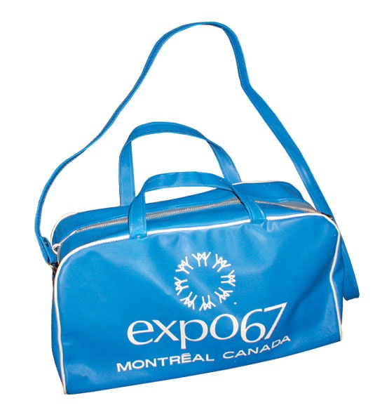 An Expo 67 souvenir travel bag. 1967 was a big year for Canadians.