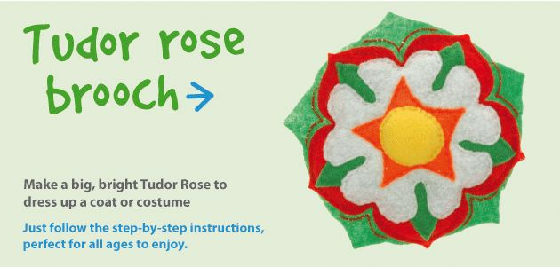 Tudor Rose Brooch Craft Ideas At Patticrafts Sca Kids