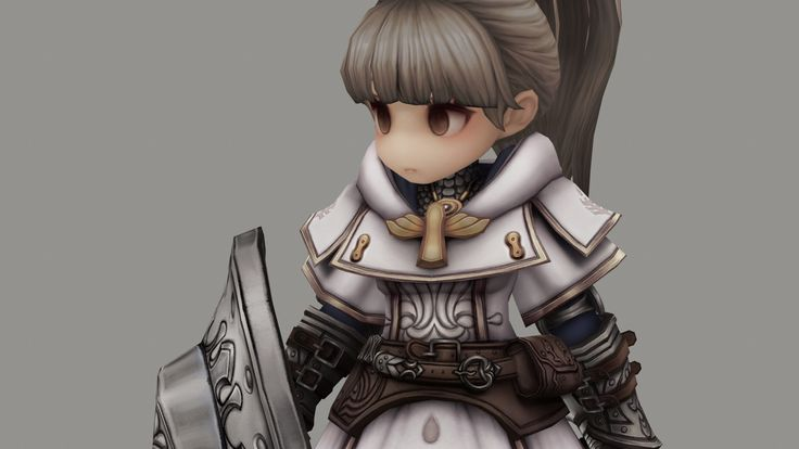 TREE OF SAVIOR PALADIN Marmoset viewer, bli . on ArtStation at https://www.artstation.com/artwork/xOP8E