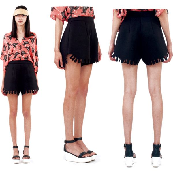 Bounty Shorts | Ioana Ciolacu by ioanaciolacudotcom on Polyvore