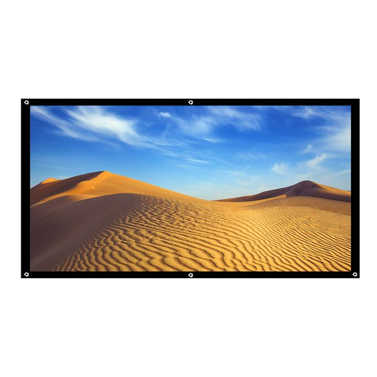 Touyinger 100 Inch 16:9 Portable Projector Screen For theater projector