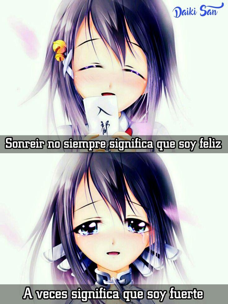 Daiki San Frases Anime Sonreir no siempre significa que soy feliz