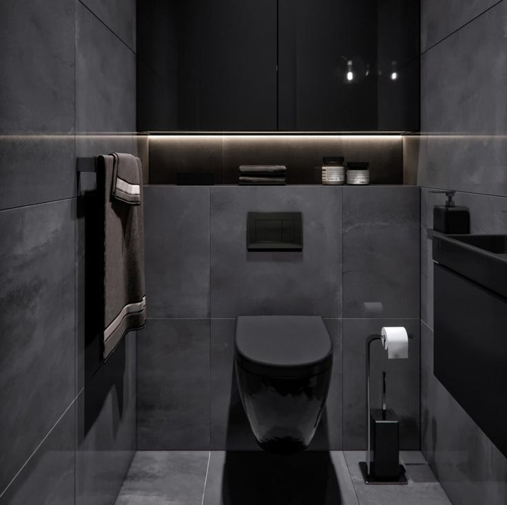 Wunderbar Ein Schwarzes Badezimmer Ist So Stylisch Own Home And Garden Designwe Black Bathroom Bathroom Interior Design Black Toilet