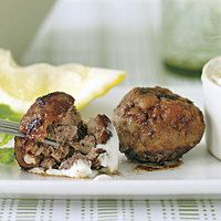 Lamb Meatballs--Riley made these for supper with Dr Weil's kale salad ...