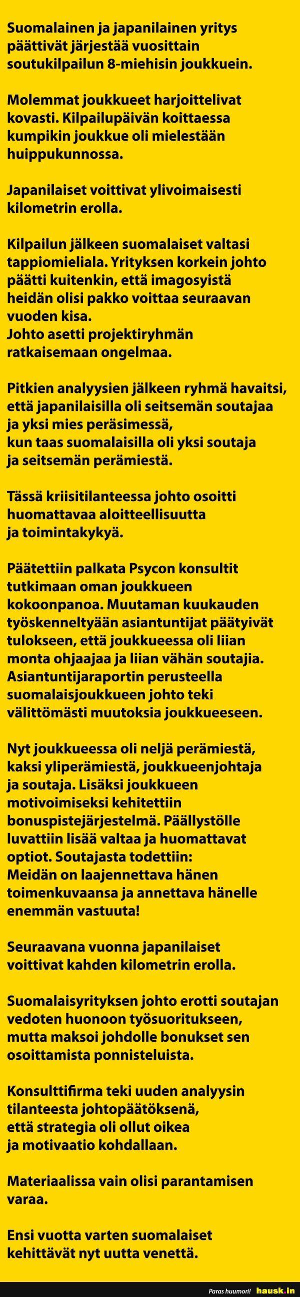 Suomalainen ja japanilainen yritys päättivät järjestää... - HAUSK.in