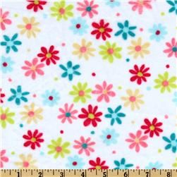 Minky Cuddle Retro Daisy White/Coral for the back of the quilt?