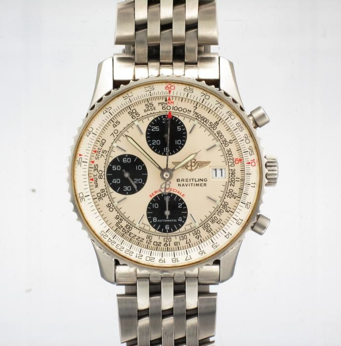 #breitling #navitimer at http://www.attenboroughjewellers.co.uk/products/1457/STEEL-BREITLING-NAVITIMER-FIGHTERS-CHRONOGRAPH-WATCH.htm