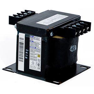 Transformador principal para el panel principal del Pivot. Primario: 380/460V, 50/60 Hz. Secundario: 120V y 24V. Precauciones a considerar.