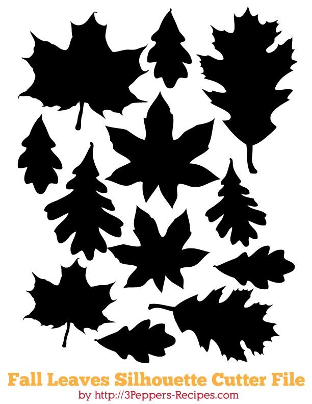 Fall Leaves - Free Cutting File #Silhouette #CutFile
