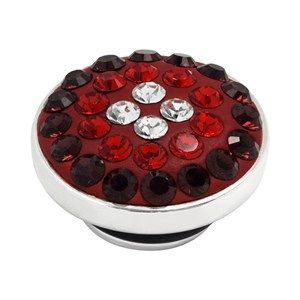 BUTTON-LIKE POPS KAGI GEMPOPS TANGO AT MIDNIGHT STERLING SILVER RED AND CLEAR SWAROVSKI CRYSTAL SET - Jons Family Jewellers