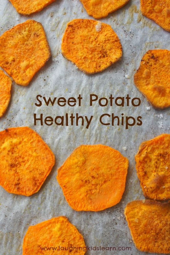 How to bake sweet potato chips in the oven with kids