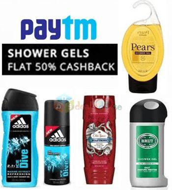 Get Flat 50% Cashback on Shower Gels & Body Washes