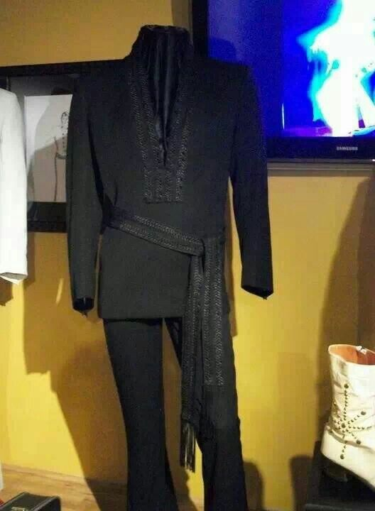 ELVIS' Black two-piece karate style suit - worn at the International Hotel in Las Vegas 1969