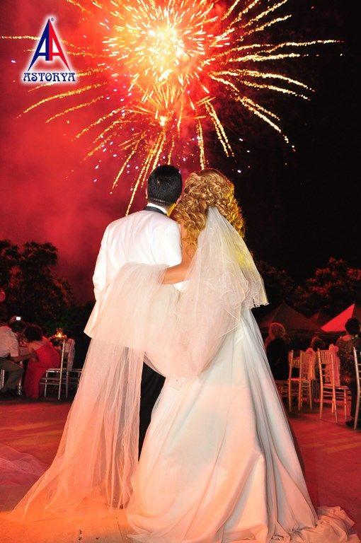 Aslanlar club düğün töreni havai fişek gösterisi 1