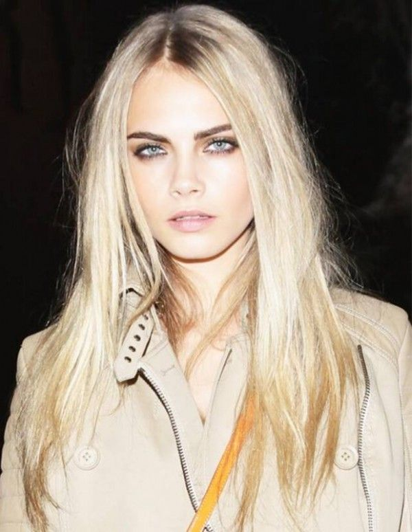 Cara Delevingne Longer Hairstyle & Blonde Highlights-04 - Hairstyles, Easy Hairstyles For Girls