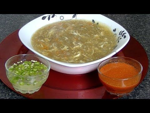 Hot & Sour Soup (Vegetable) Indo-Chinese - By VahChef @ VahRehVah.com - YouTube