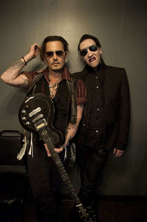 Johnny Depp and Marilyn Manson: 2 of my all-time favorites! Super hot!