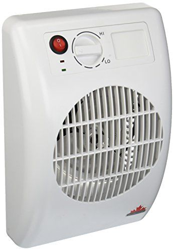 """Seabreeze SF14TA """"Off the Wall"""" Outlet Mountable Bed/Bathroom Heater with """"SMART ThermaFlo Technology"""", White"""