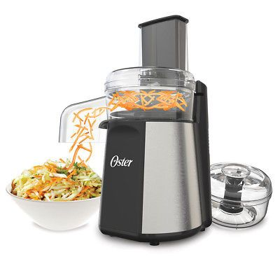 NEW! Oster Oskar 2-in-1 Salad Prep and Food Processor, Stainless FPSTFP4100 Was: $76.99 Now: $57.74.