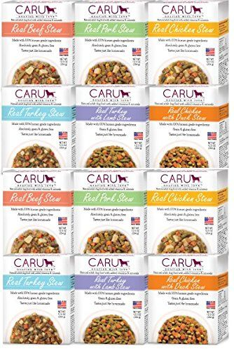 Caru Real Stew For Dogs Variety Pack Pork Turkey Chicken Beef