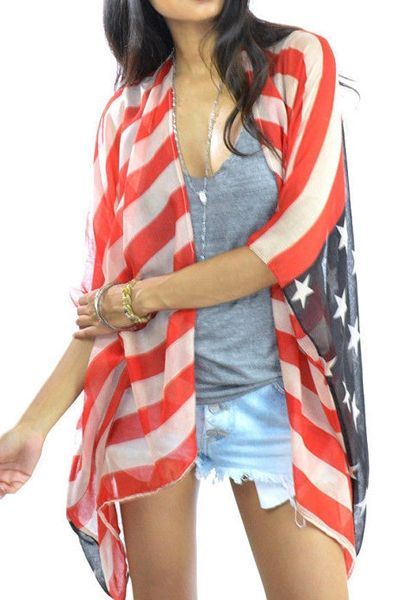 Love this! American Flag Print Pashmina #USA #Flag #Stars #Stripes #Pashmina #Fashion