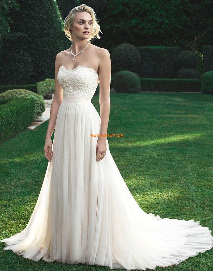 Hala Bez ramínek Elegantní & moderní Levné svatební šaty