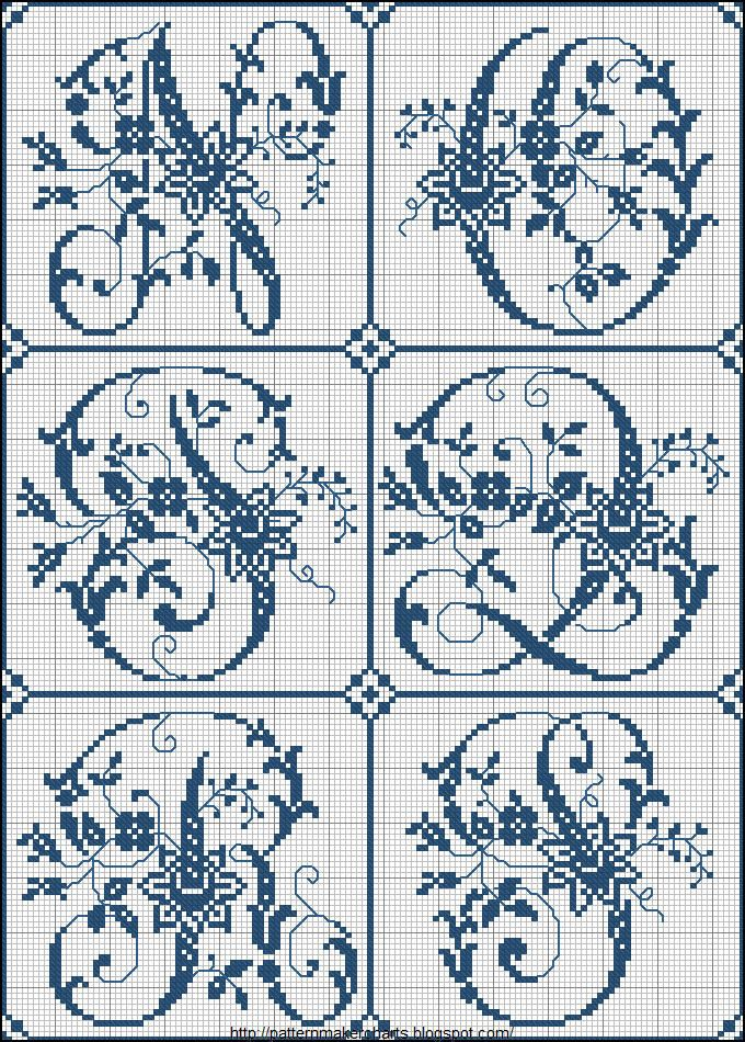 Free Easy Cross, Pattern Maker, PCStitch Charts + Free Historic Old Pattern Books: Sajou No 324: