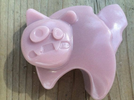 Halloween Cat natural soap with coconut oil, essential oils, vit E