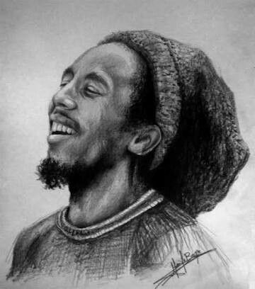 how to draw bob marley pencil