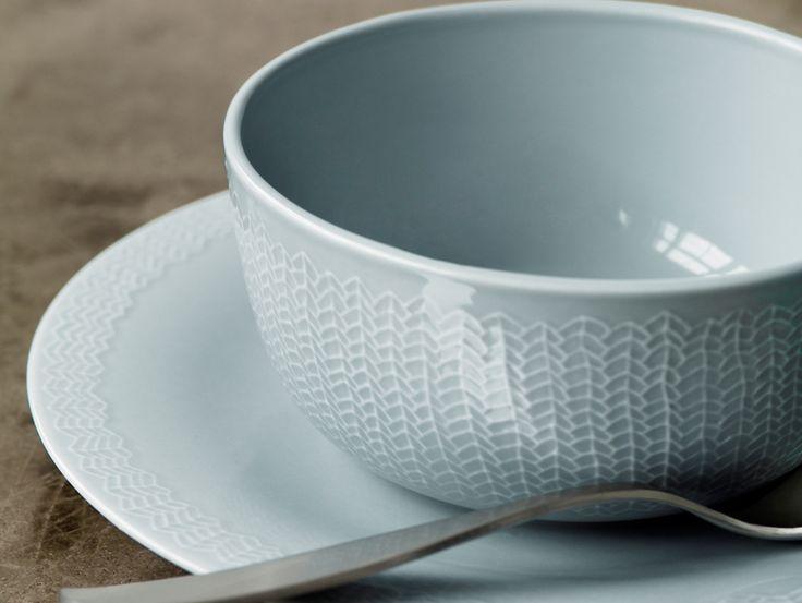 Letti Pearl Grey Sarjaton bowl 0.68L by Iittala