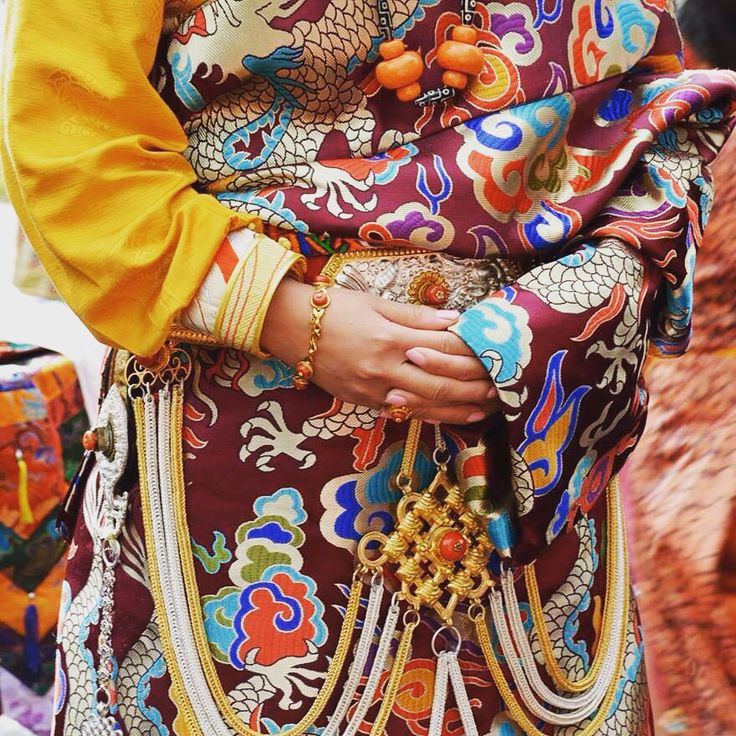 Tibetan traditional dress# my wedding dress