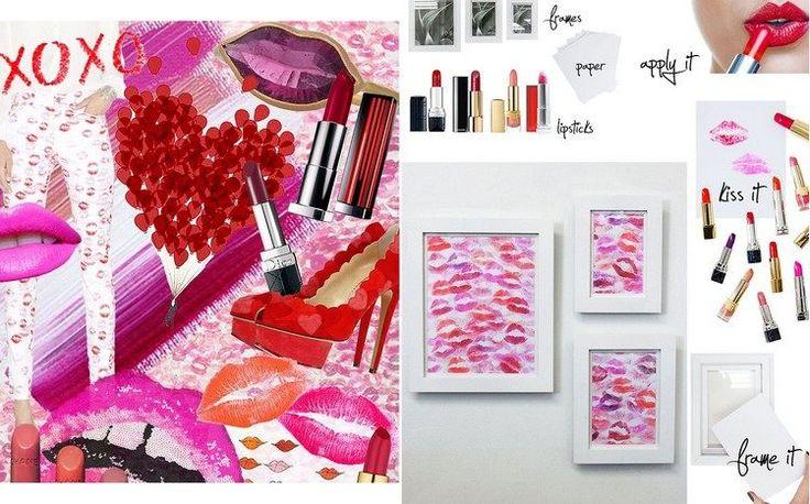 des tableaux originaux décorés de baisers multicolores