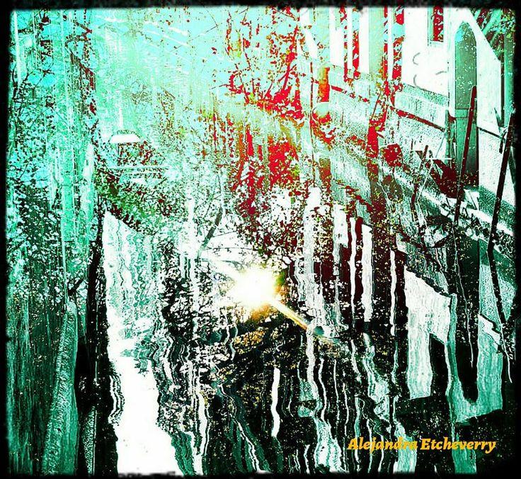 Reflejos en el canal - Fotografía intervenida y Arte Digital - San Luis, Argentina - Autora: Alejandra Etcheverry
