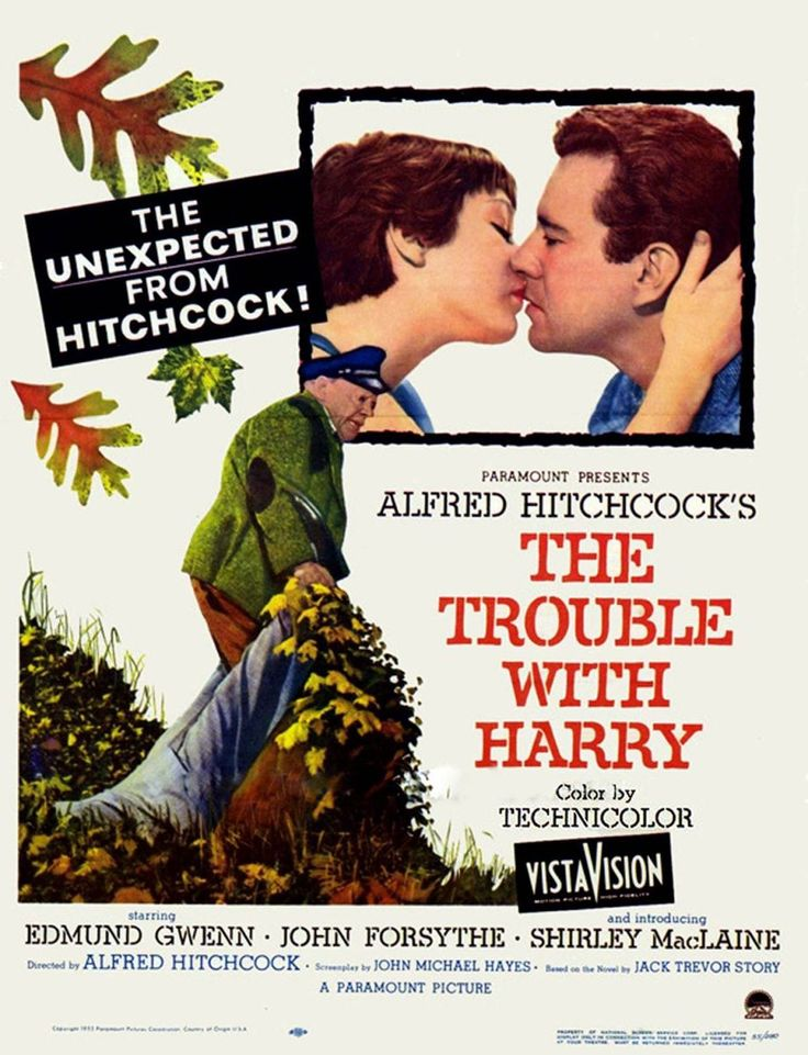 1955 DIRECTOR: Alfred Hitchcock Alfred Hitchcock's attempt at comedy; Blackest of black, certainly for the time in which this was shot, The Trouble With Harry is that like the majority of com…