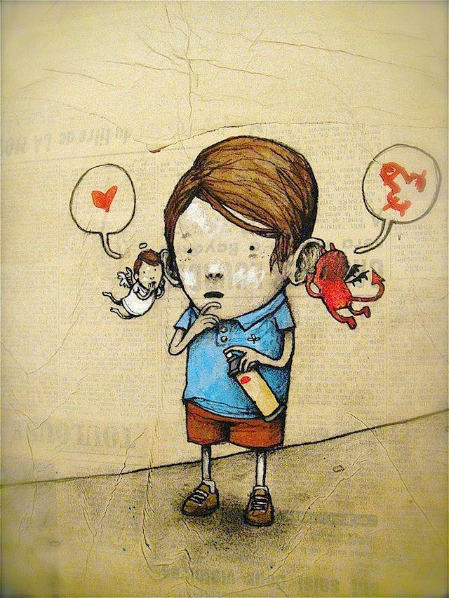 Streetart: Dran aka the French Banksy incredible!