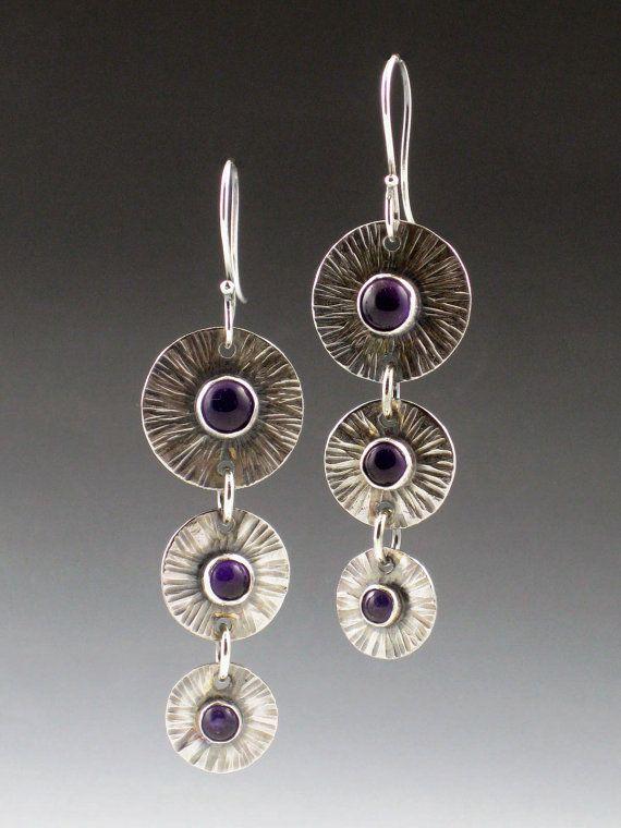 Sterling silver and amethyst earrings by Michele Grady www.michelegrady.com