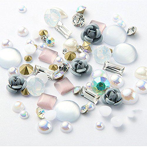 DIY Nail Art 3D Rose Schmuck Gems Mixed Nail Art Dekoration Nail Glitter Aufkleb…
