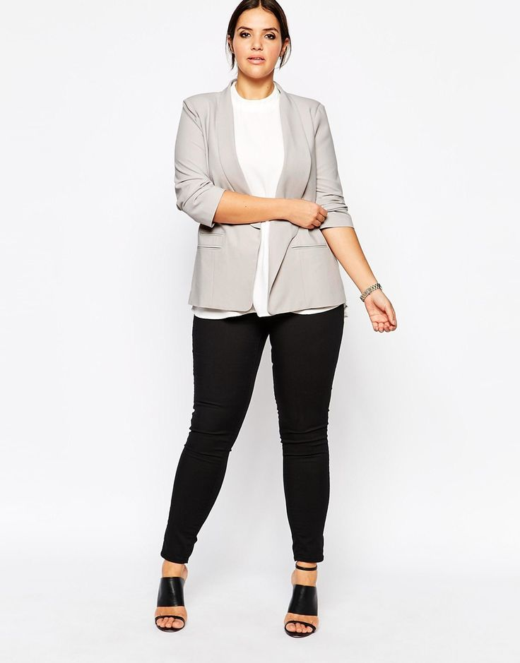 ASOS CURVE | Blazer in Crepe with Slim Lapel