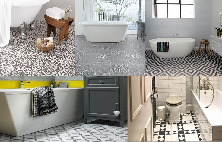 Create a fantastic design feature for your bathroom floor using beautiful tile patterns, colour and finish.