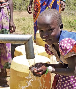 'Safe Water' - Useful Gifts by TEAR Australia: Give a family or community the gift of safe water. Clean water is essential for a healthy life. Help provide a household with safe water for drinking, cooking, watering vegetables and washing.