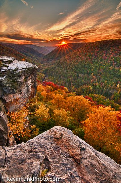 Lindy Point Sunset - Blackwater Falls State Park - West Virginia | Kevin Funk Photography--WOW. Absolutely beautiful and not to mention...my home state too!!!