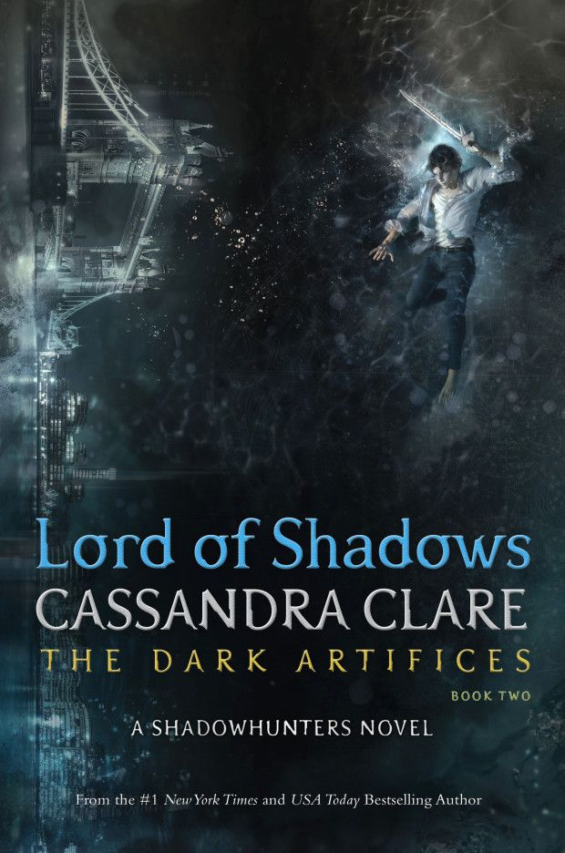 The cover of Lord of Shadows! Julian and the skyline of modern London, to be released May 23, 2017