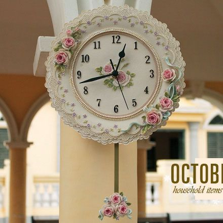 Derlook-baroque-wall-clock-laciness-wall-clock-rose-relief-wall-clock-new-house-decoration.jpg (440×440)