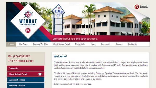 Wedrat Chartered Accountants | Website Design | By Corinne Jade Shardlow