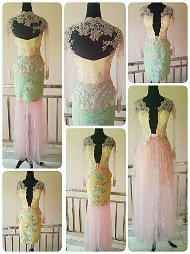 Two ways kebaya - batik skirt for graduation day.